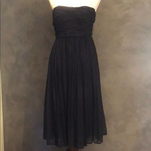 See by Chloe navy strapless dress with full skirt
